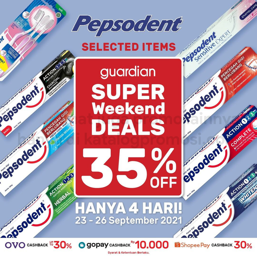 Promo GUARDIAN Super Weekend Deals up to 50% off periode 23-26 September 2021