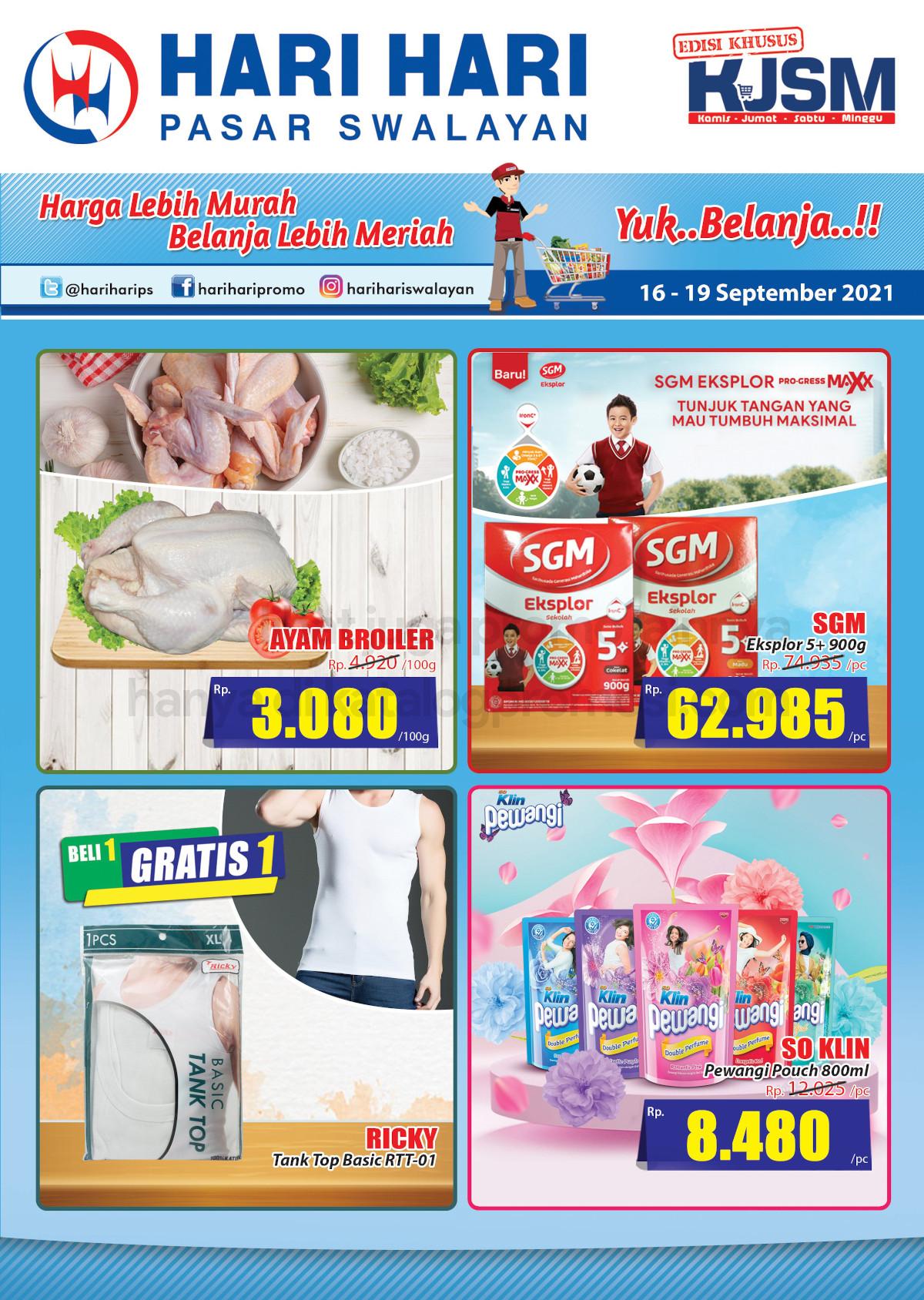 Promo Hari Hari Pasar Swalayan Weekend JSM Periode 16-19 September 2021