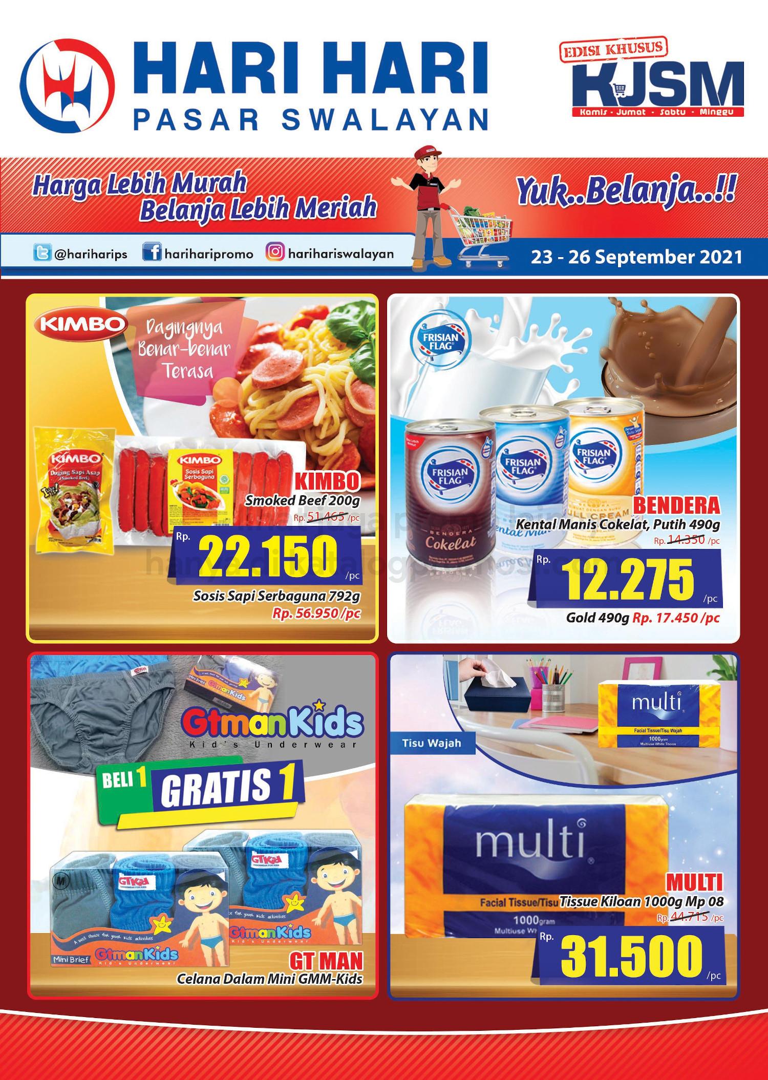 Promo Hari Hari Pasar Swalayan Weekend JSM Periode 23-26 September 2021