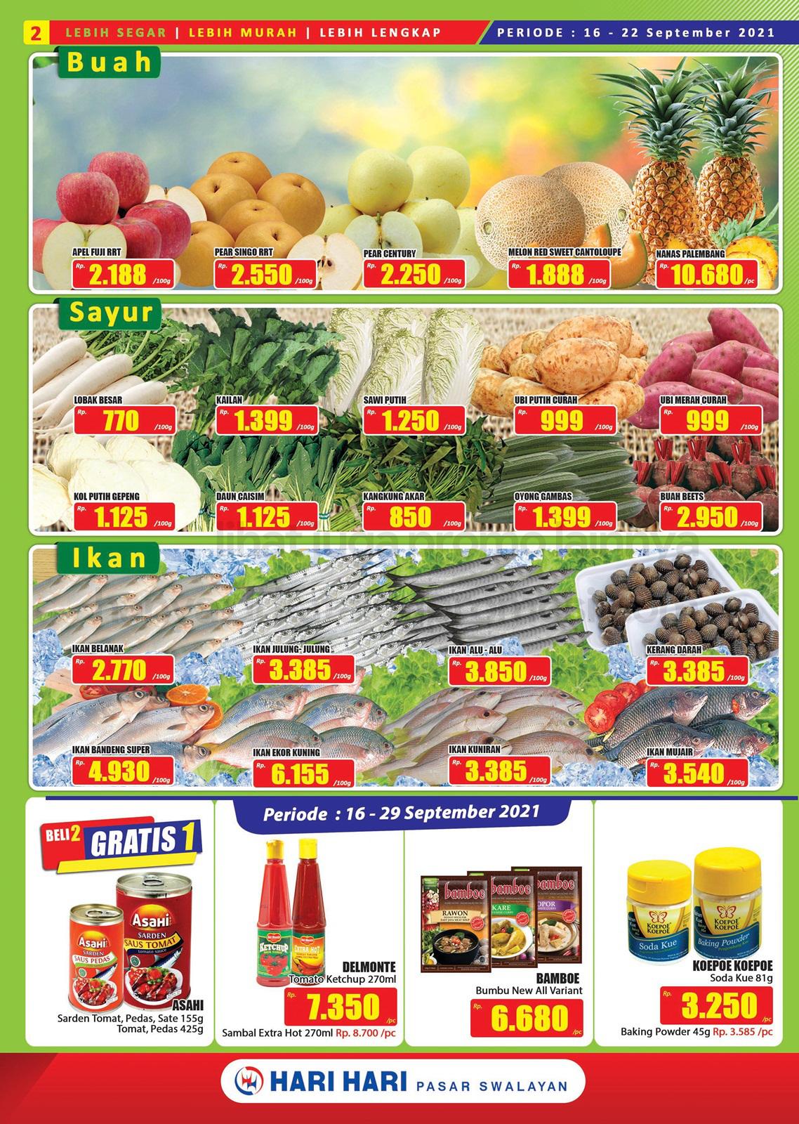 Promo Hari Hari Pasar Swalayan Katalog Mingguan Periode 16-29 September 2021