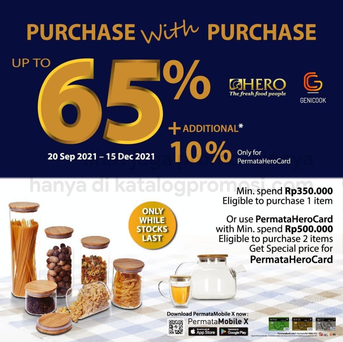 Promo HERO SUPERMARKET PURCHASE WITH PURCHASE - DISKON hingga 65% untuk GENICOOK Wooden Container