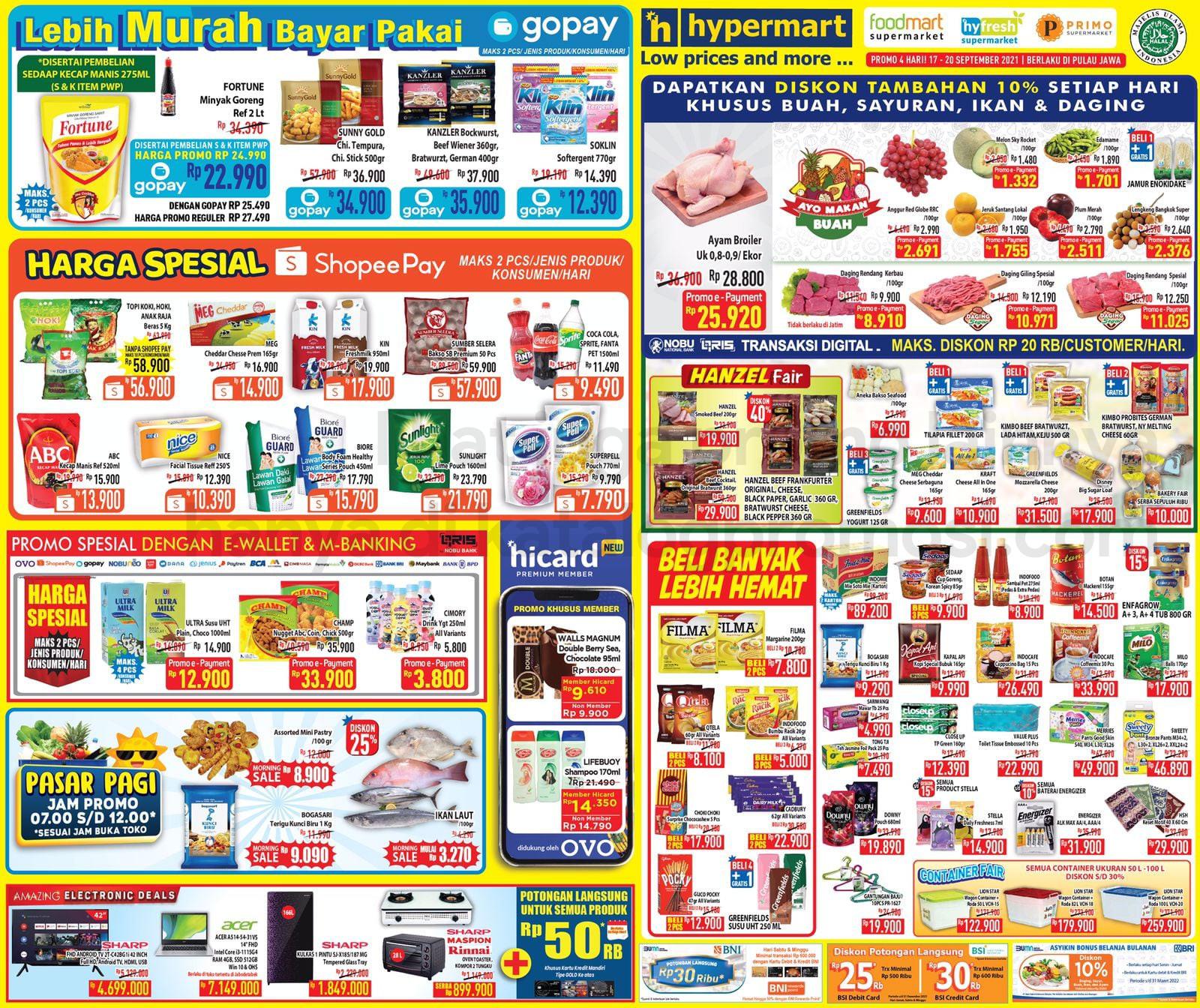 Promo Hypermart JSM Katalog Weekend periode 17-20 September 2021