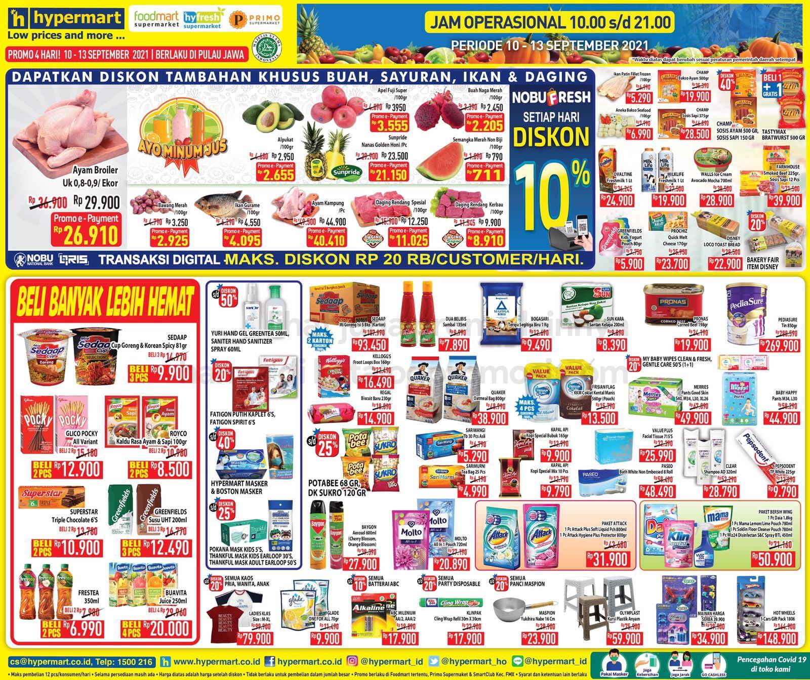 Promo Hypermart JSM Katalog Weekend periode 10-13 September 2021