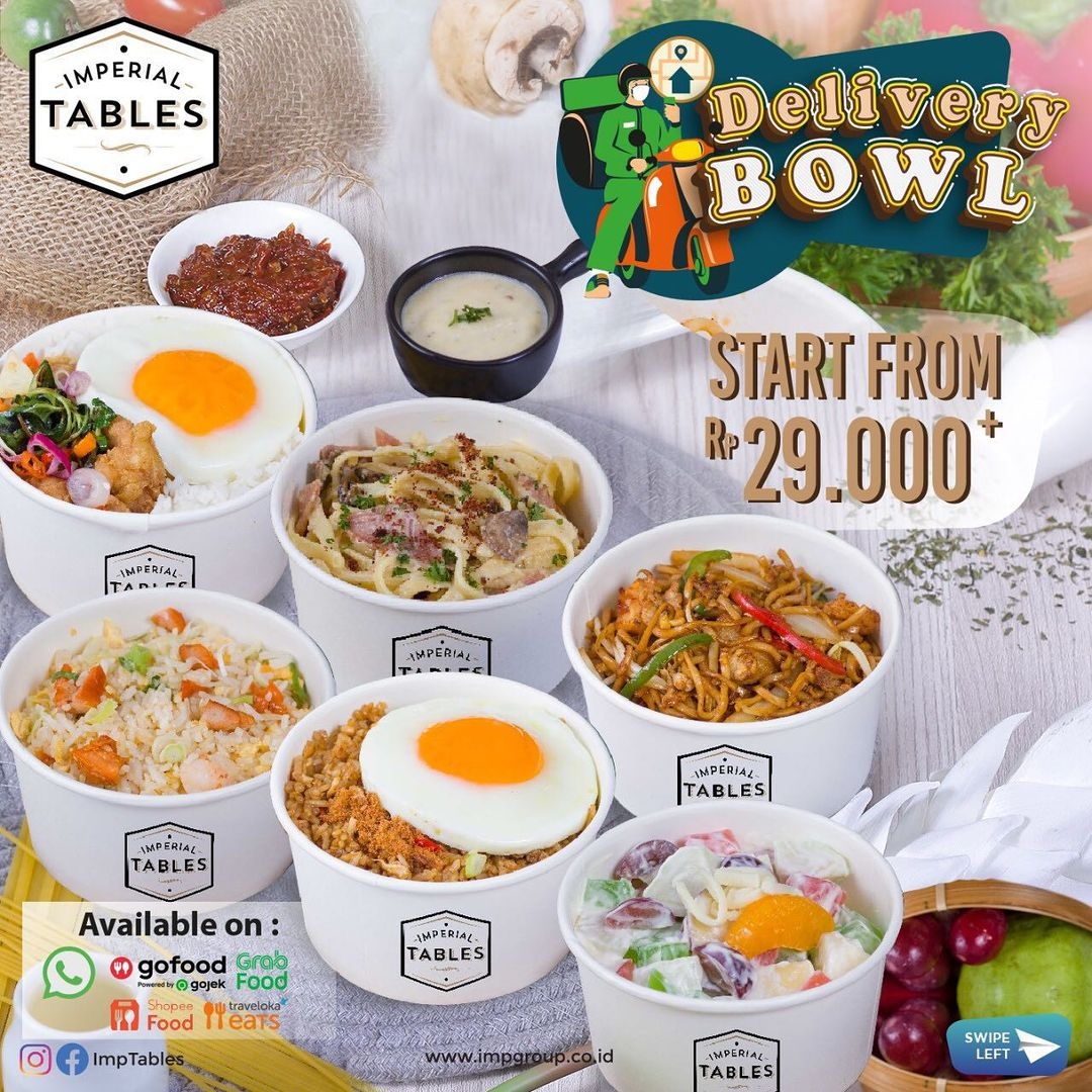 Promo IMPERIAL TABLES DELIVERY BOWL - Harga Spesial mulai Rp. 29ribuan aja