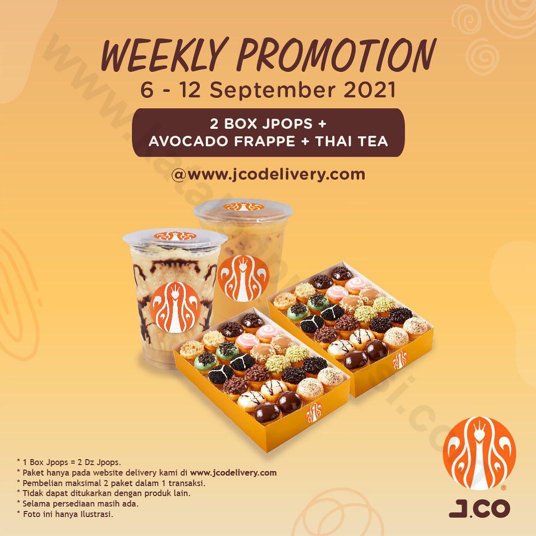 Promo JCO Minggu Ini   Weekly Promotion – 2 box JPOPS + Avocado Frappe + Thai Tea Harga Spesial Hanya Rp.149.000*