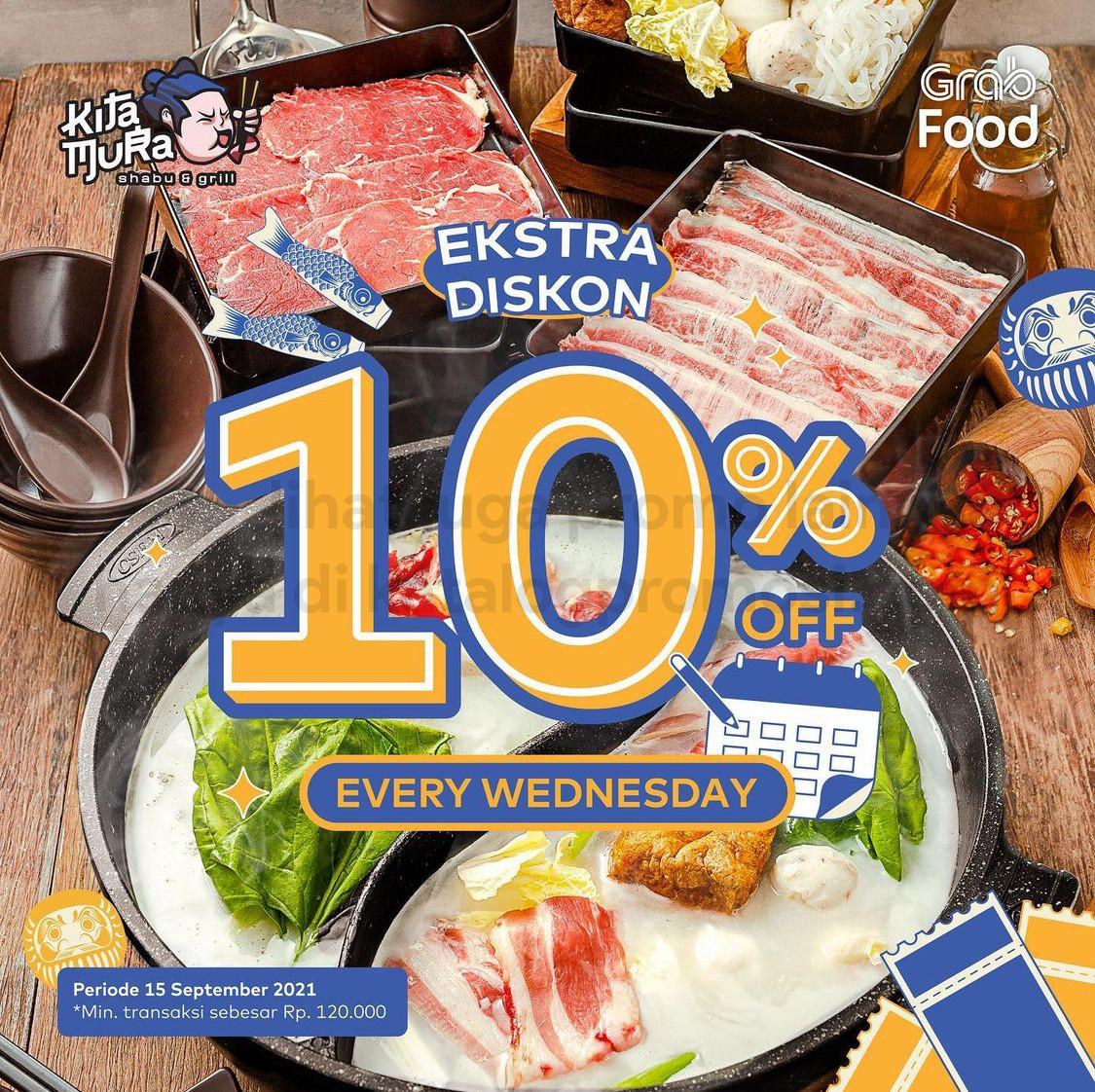 Promo KITAMURA EKSTRA DISKON 10% khusus pemesanan via GRABFOOD