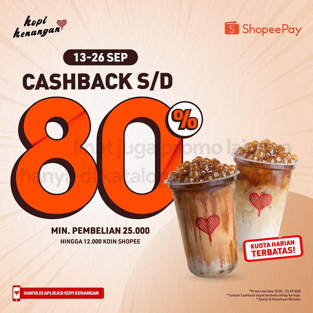 Promo KOPI KENANGAN PENAWARAN SPESIAL khusus transaksi pakai SHOPEEPAY berlaku tanggal 15-28 September 2021