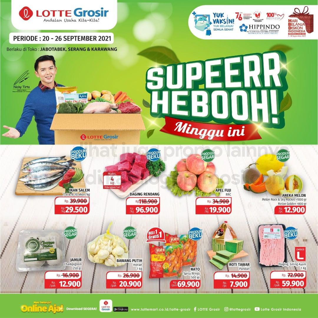 Promo LOTTE GROSIR SUPER HEBOH MINGGU INI periode 20-26 September 2021