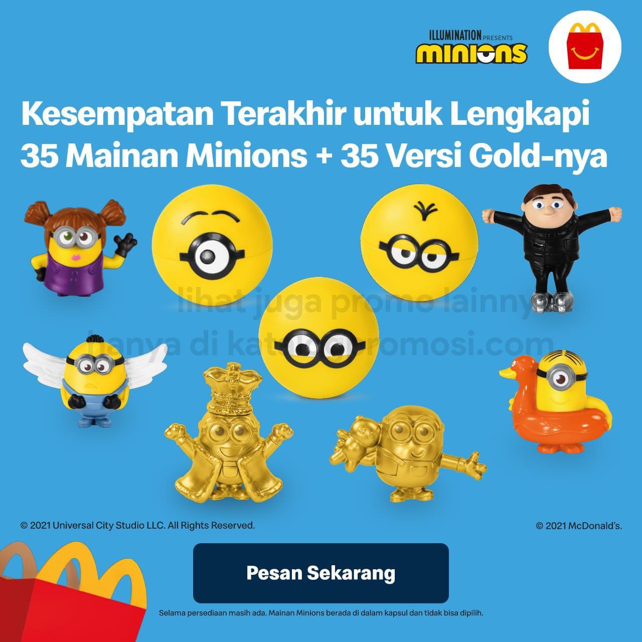 Promo MCDONALDS HAPPY MEALS - Dapatkan mainan Minions