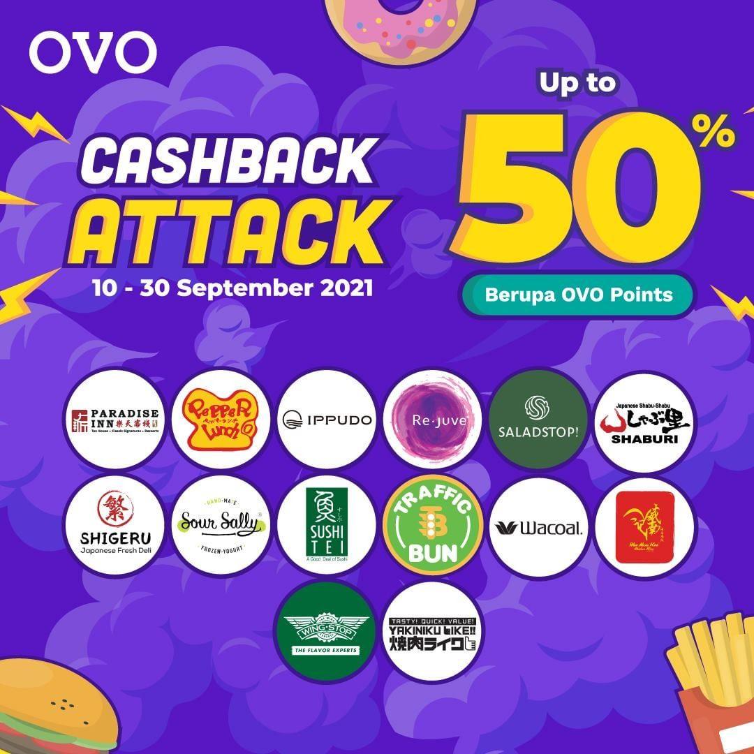 Promo OVO TERBARU CASHBACK ATTACK! Dapatkan Cashback hingga 50%