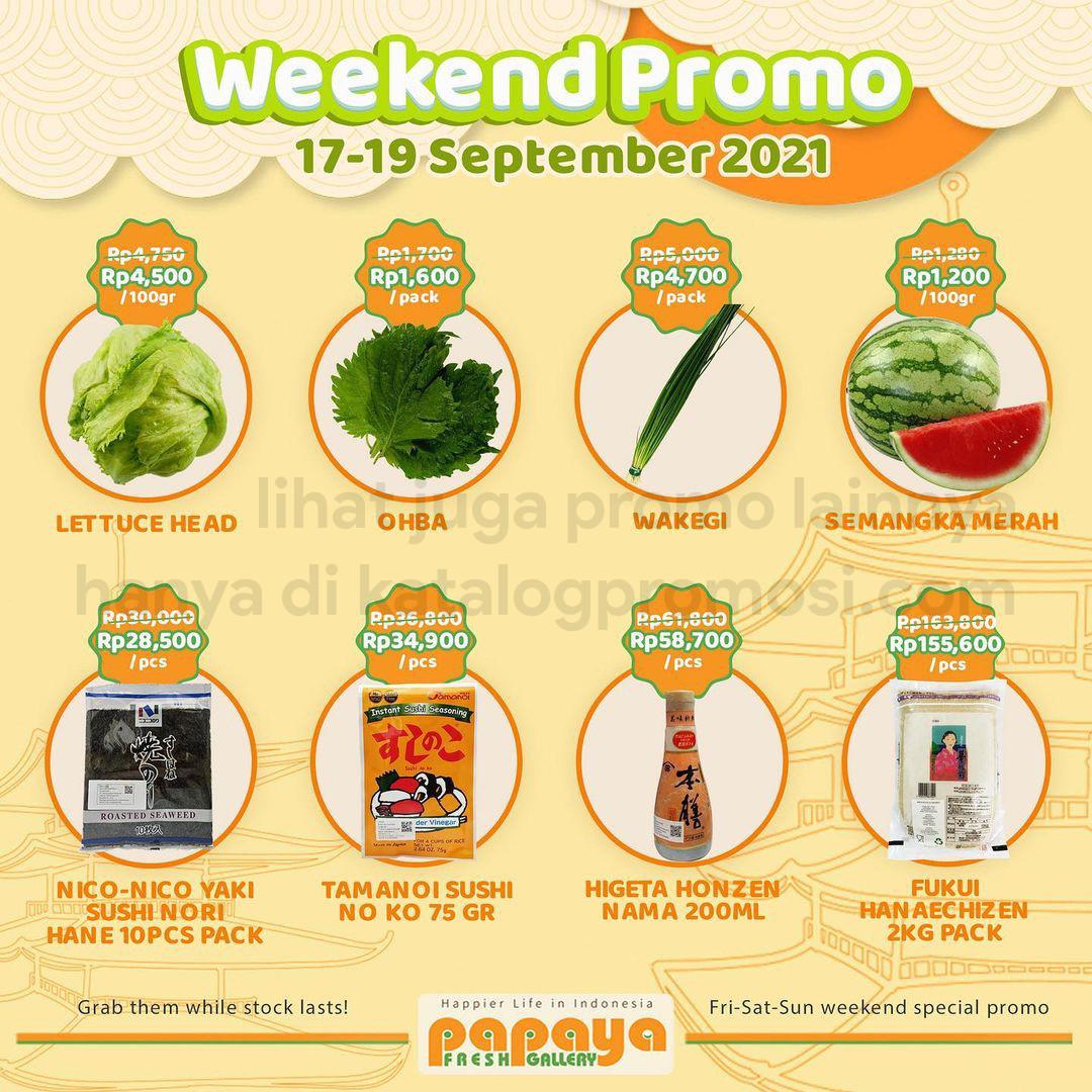 Promo Papaya Fresh Gallery Jakarta Weekend Fiesta periode 17-19 September 2021