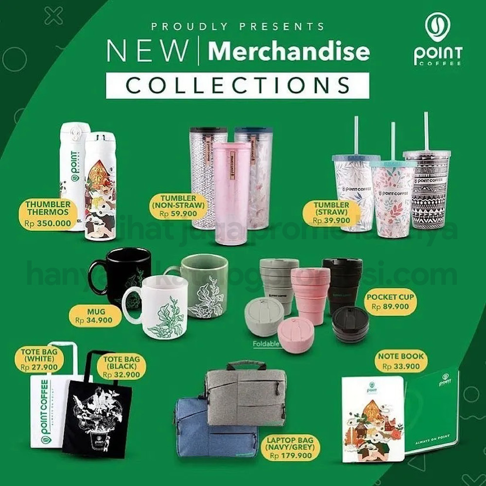 POINT COFFEE NEW MERCHANDISE COLLECTION! HARGA SPESIAL mulai Rp. 27.900