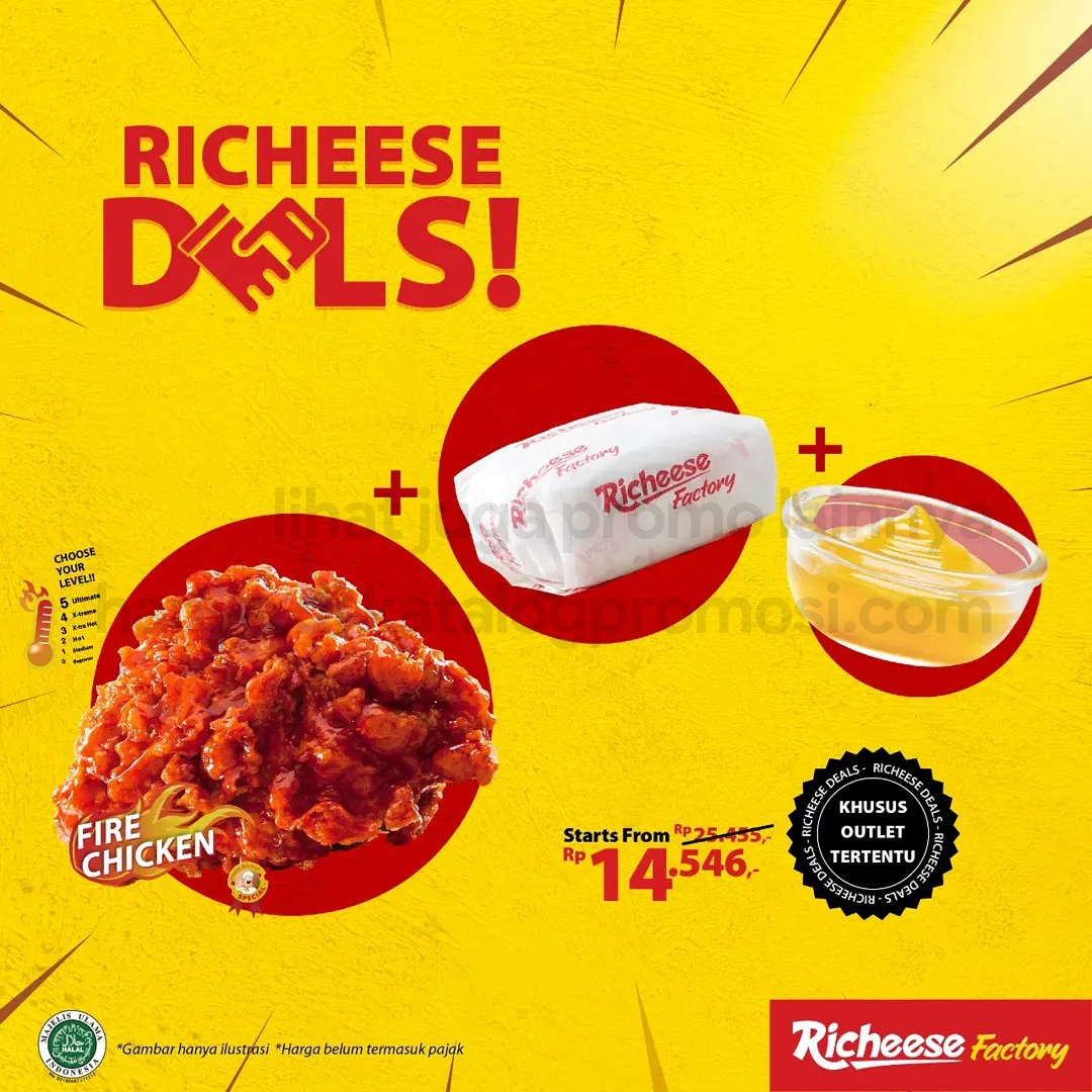 RICHEESE FACTORY Promo Richeese Deals Harga Mulai Dari Rp 14.546,-*
