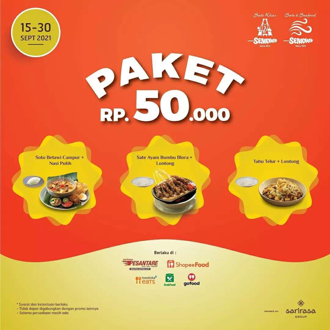 Promo SATE KHAS SENAYAN PAKET SERBA 50RIBU