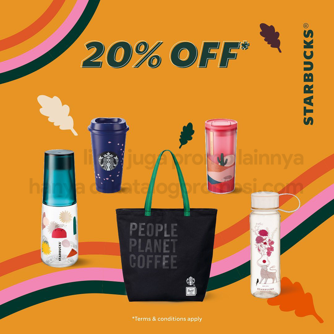 Promo Starbucks Merchandise Sale! Diskon hingga 70% untuk Koleksi Merchandise Pilihan
