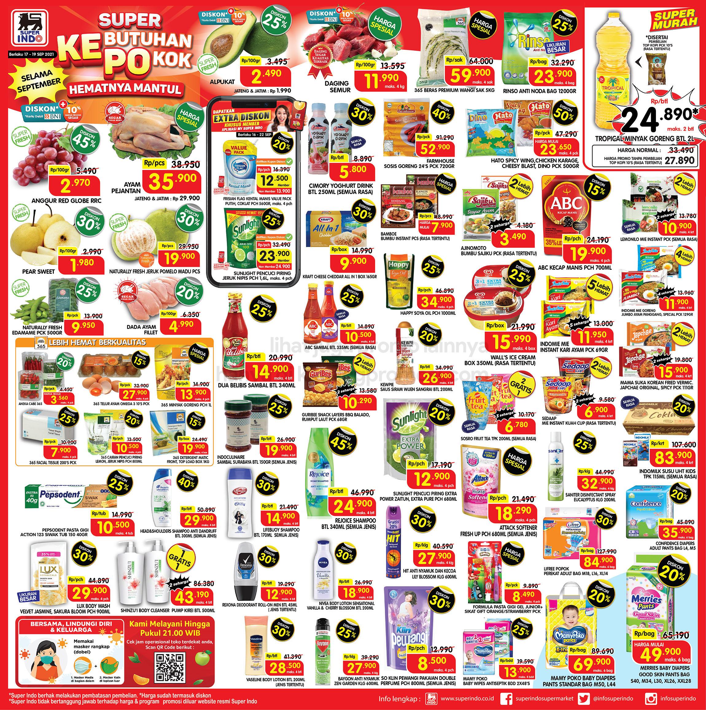 Promo Superindo JSM Katalog WEEKEND 17-19 September 2021