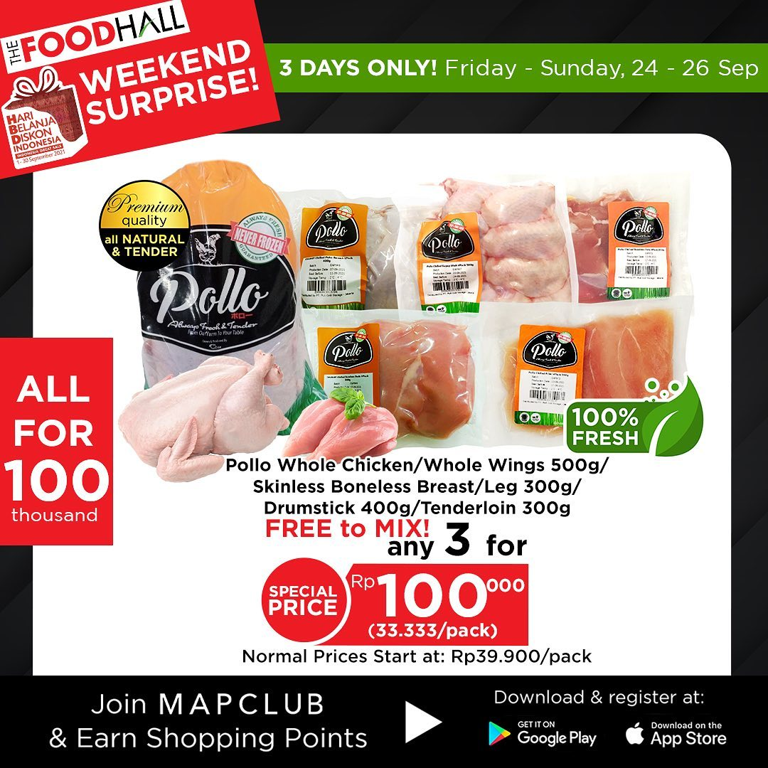 Promo THEFOODHALL JSM - WEEKEND SURPRISE!!! periode 24-26 September 2021