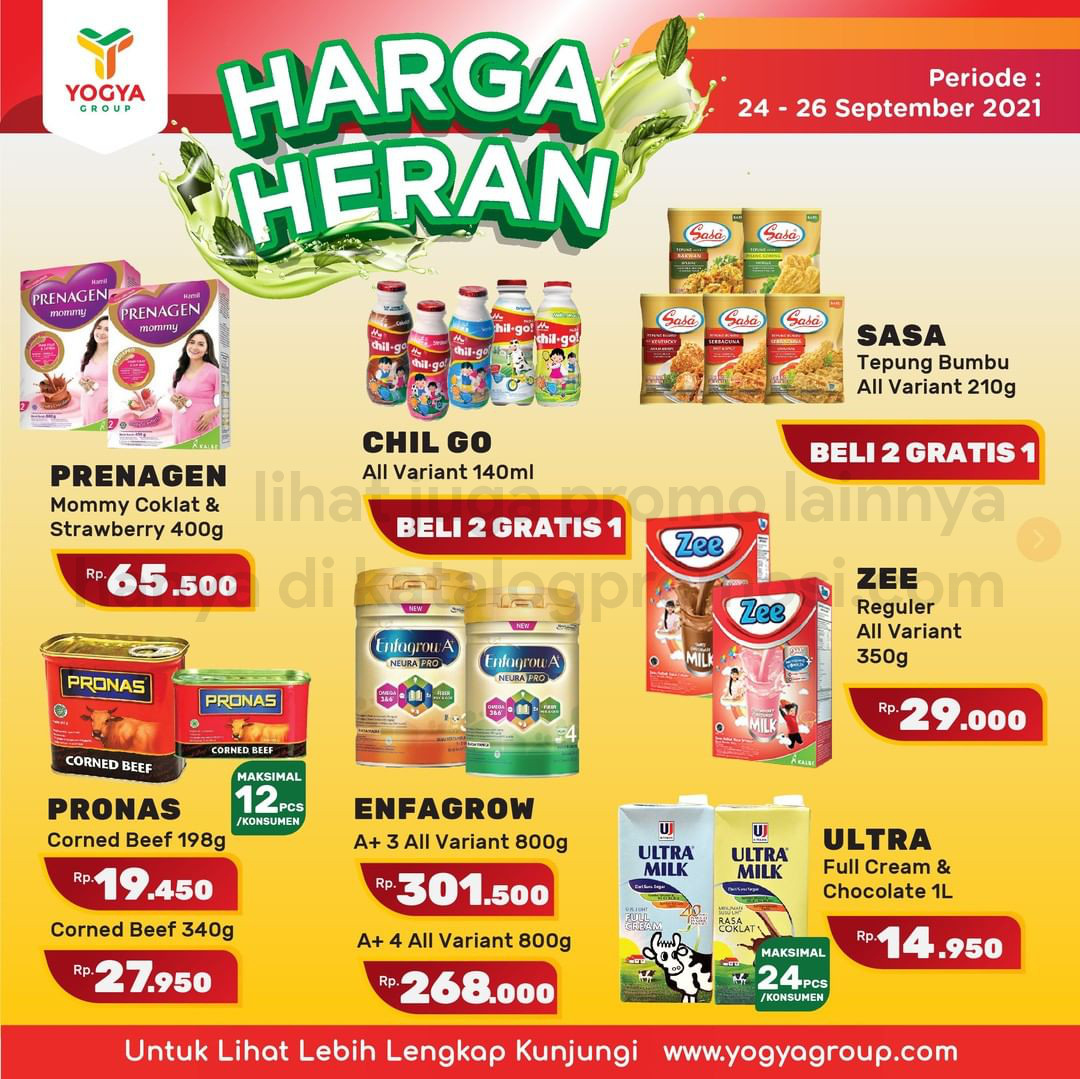 Katalog TOSERBA YOGYA WEEKEND Promo HARGA HERAN periode 24-26 September 2021