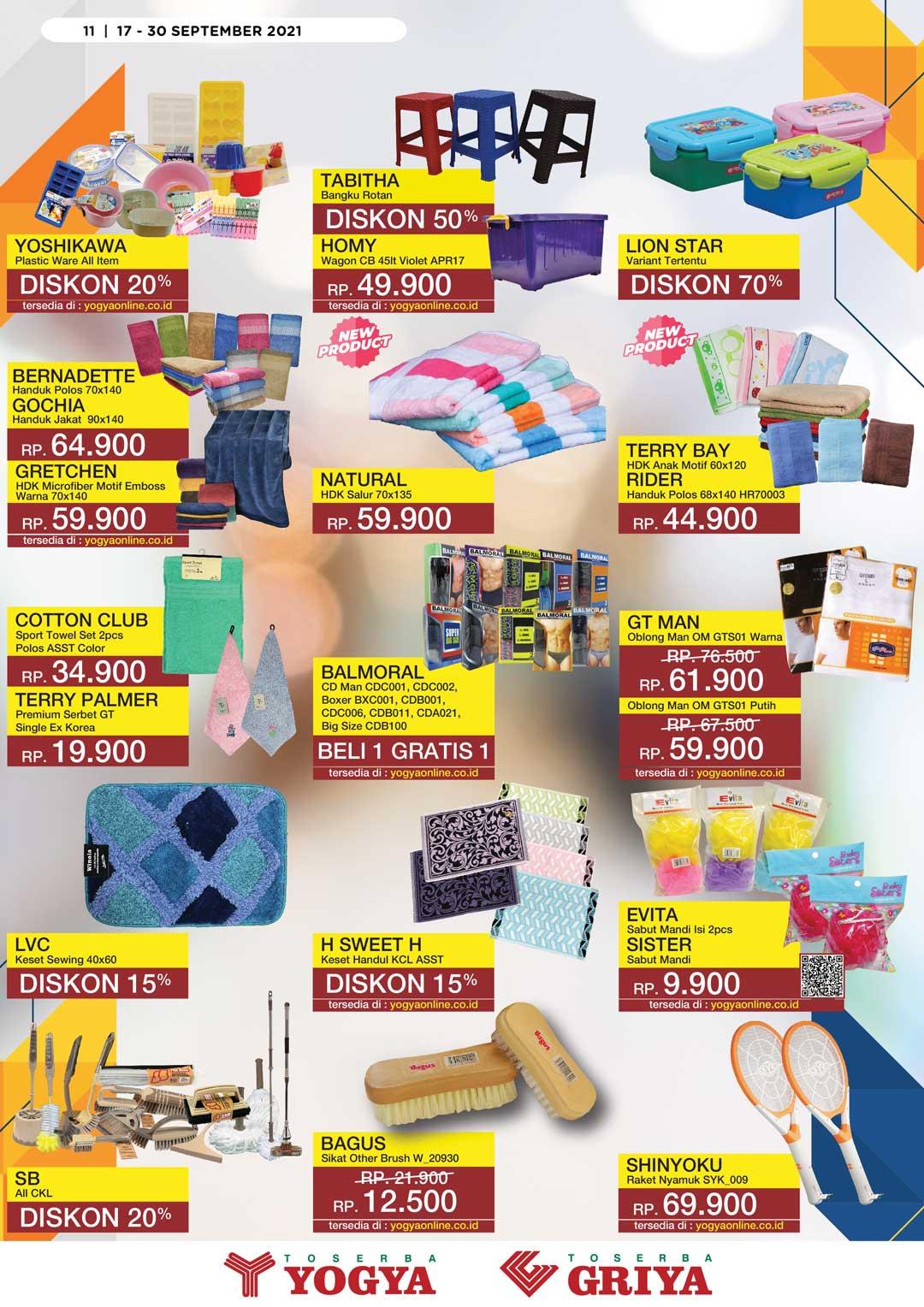 Katalog Toserba Yogya Promo SERBA HEMAT periode 17-30 September 2021