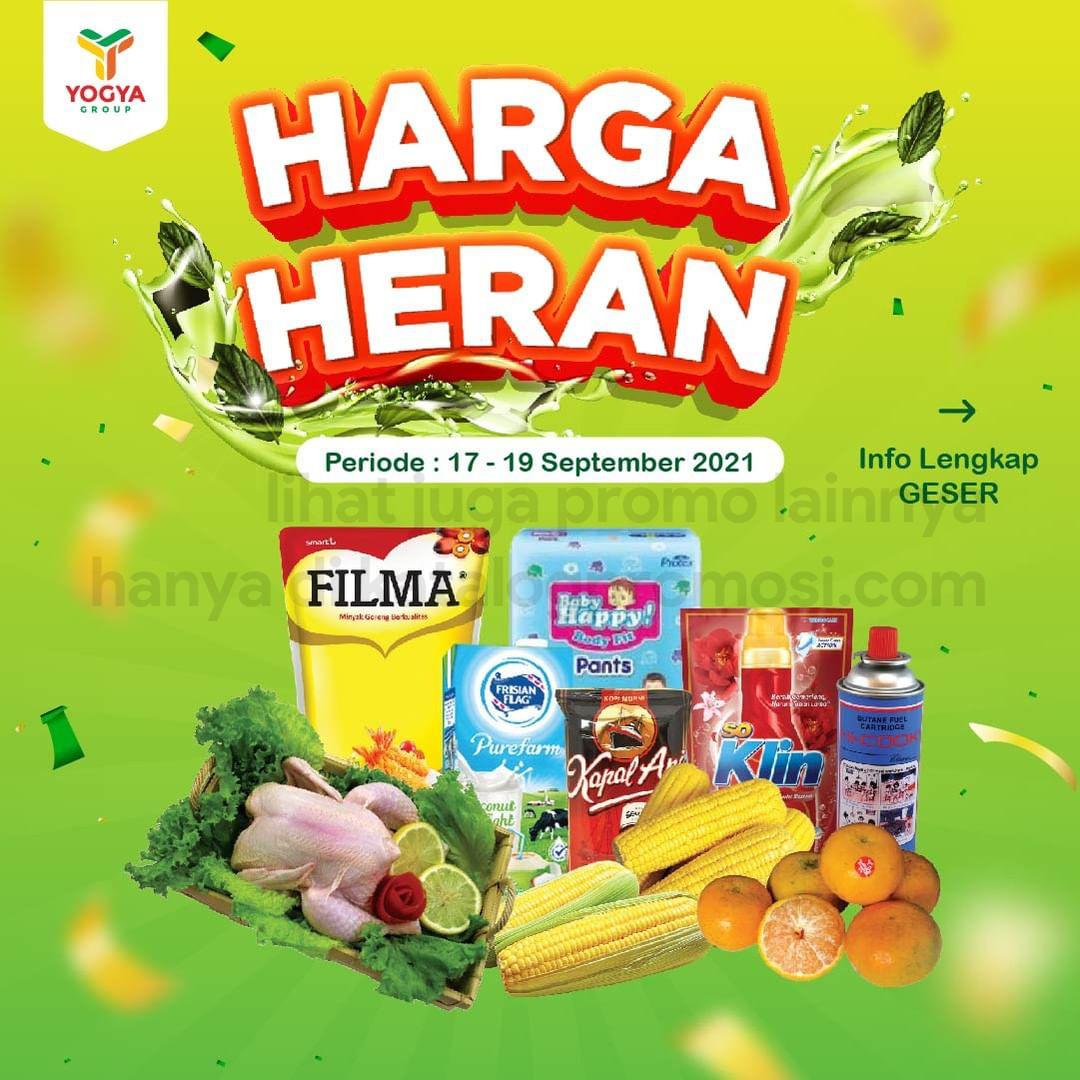 Katalog TOSERBA YOGYA WEEKEND Promo HARGA HERAN periode 17-19 September 2021