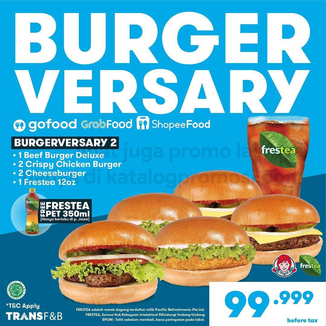 Promo WENDY'S BURGERVERSARY - HARGA SPESIAL mulai Rp. 99.999