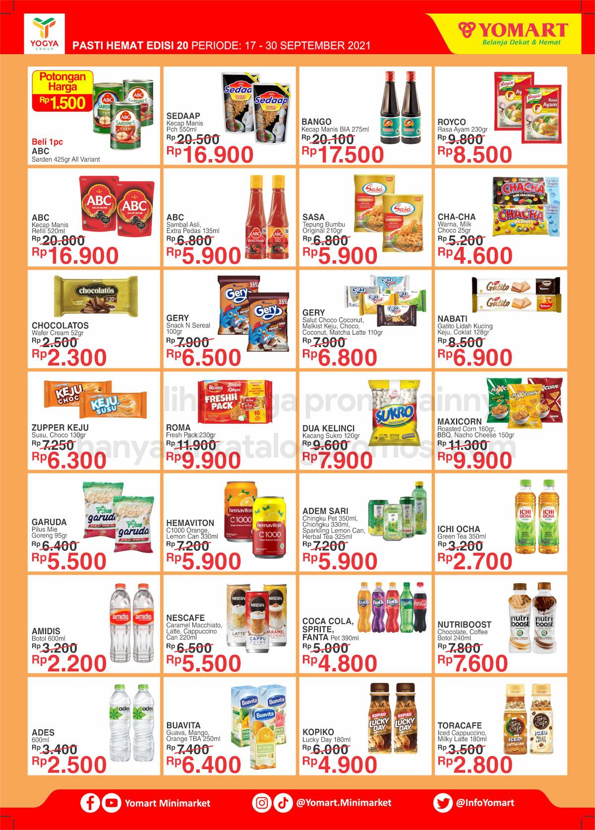 Katalog Yomart Minimarket Promo Mingguan periode 17-30 September 2021