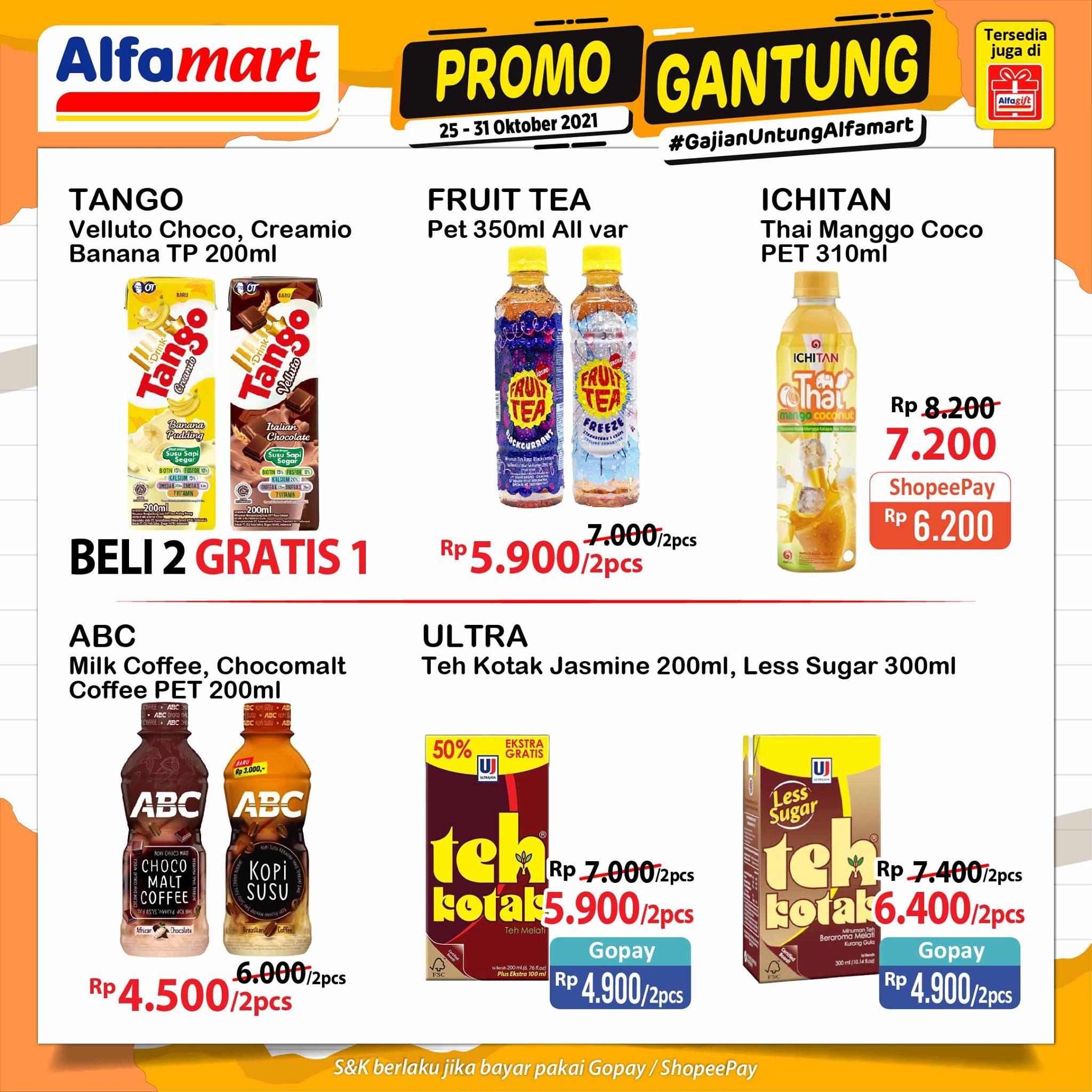 Promo GANTUNG ALFAMART / GAJIAN UNTUNG periode 25-31 Oktober 2021