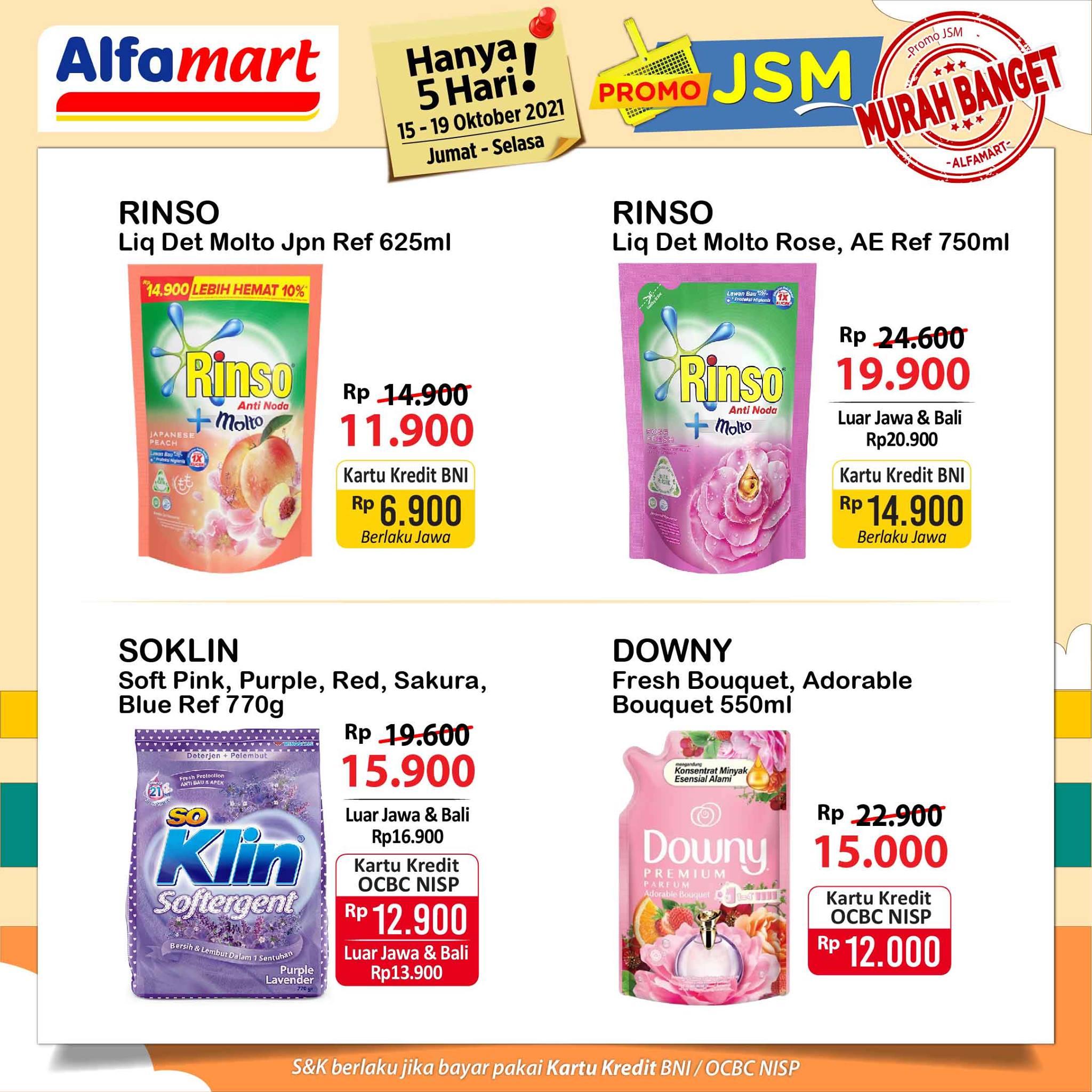 Promo ALFAMART JSM Weekend periode 15-19 Oktober 2021
