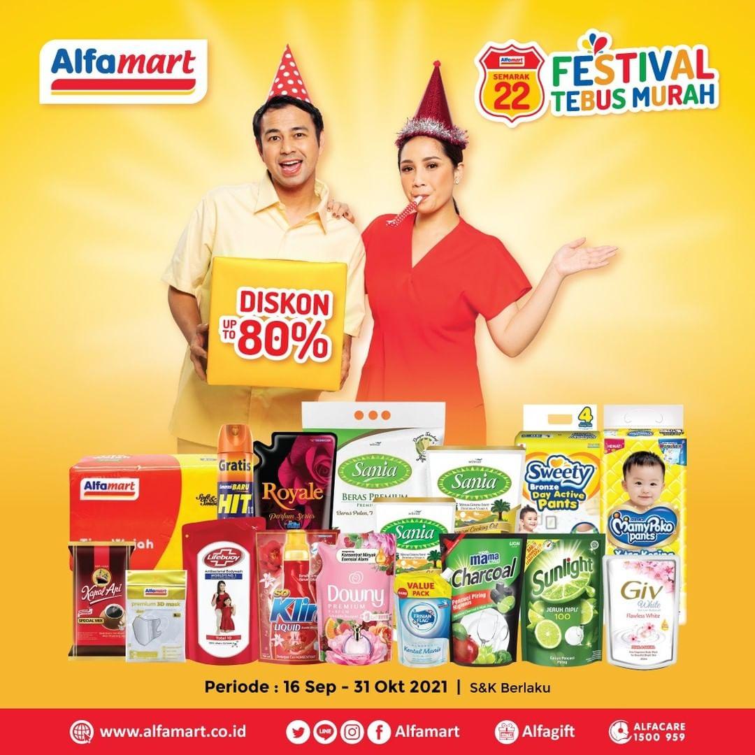 Promo ALFAMART FESTIVAL TEBUS MURAH periode 16 September - 31 Oktober 2021