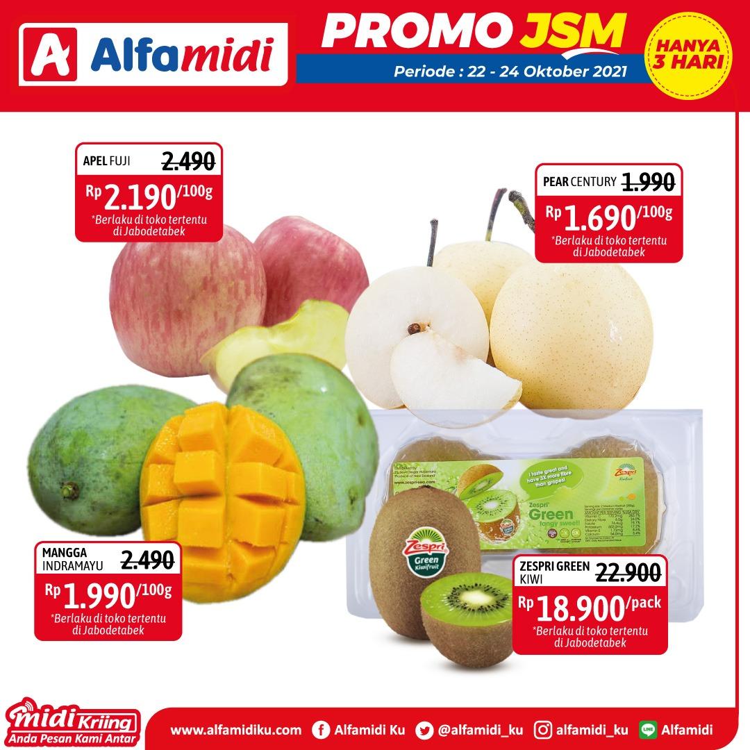 Promo ALFAMIDI JSM Weekend periode 22-24 Oktober 2021