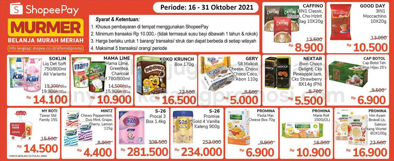 ALFAMIDI Promo SHOPEEPAY MURMER periode 16-31 Oktober 2021