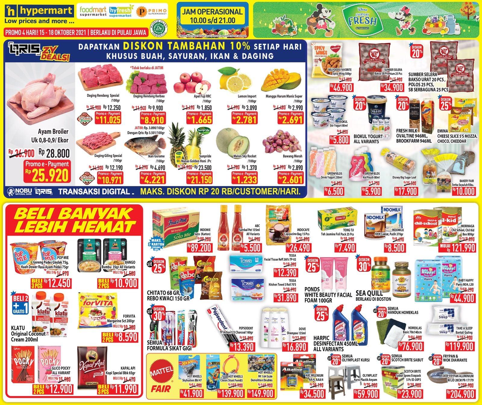 Promo Hypermart JSM Katalog Weekend periode 15-18 Oktober 2021