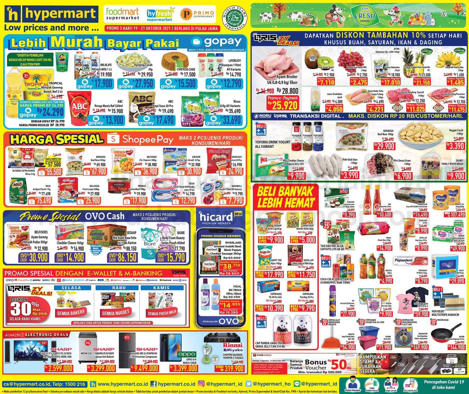Katalog Hypermart Promo Weekday periode 19-21 Oktober 2021