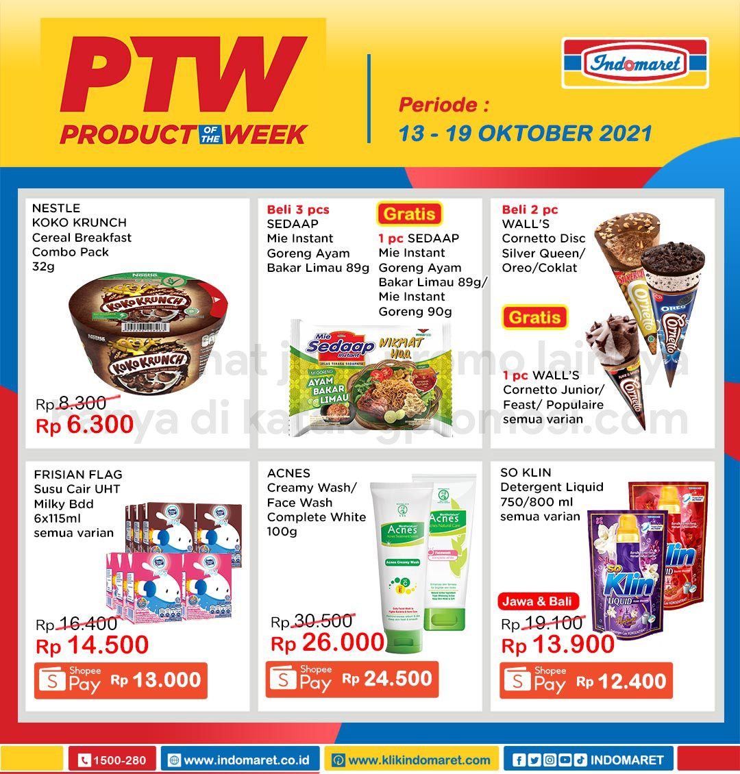 INDOMARET Promo PTW - PRODUCT of The Week periode 13-19 Oktober 2021