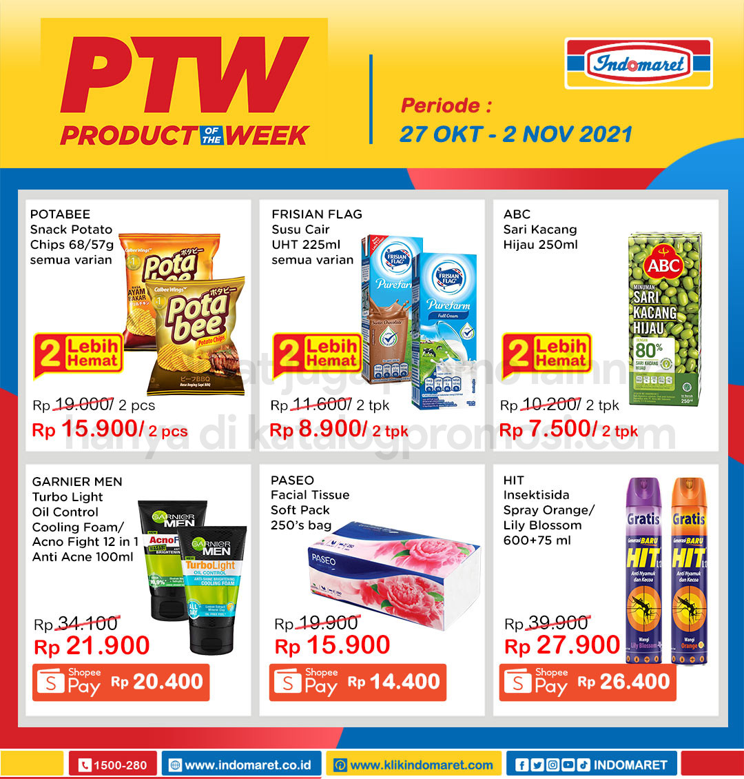 INDOMARET Promo PTW - PRODUCT of The Week periode 27 Oktober - 02 November 2021