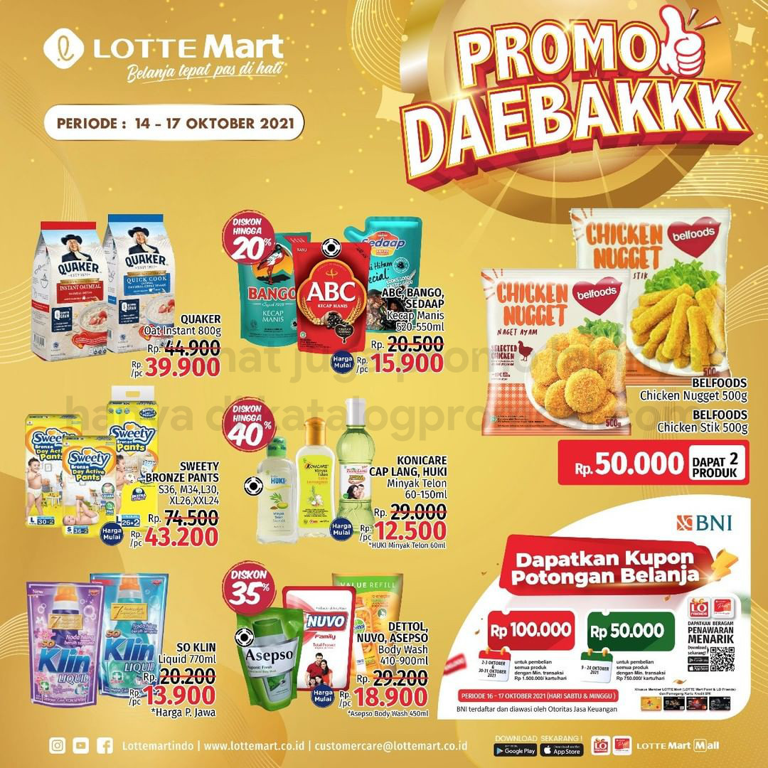 Katalog Promo LOTTEMART RETAIL WEEKEND JSM periode 14-17 Oktober 2021