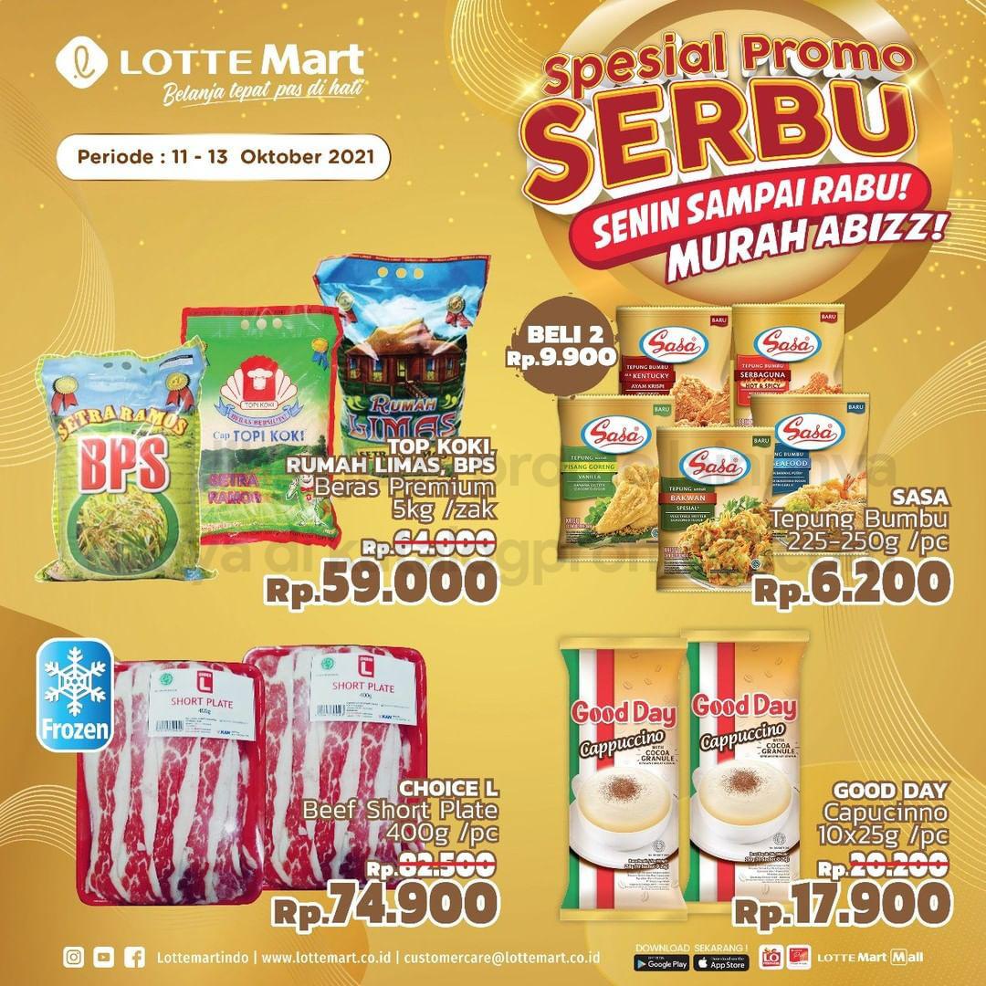 Promo LOTTEMART Spesial Serbu (Senin sampai Rabu) periode 11-13 Oktober 2021