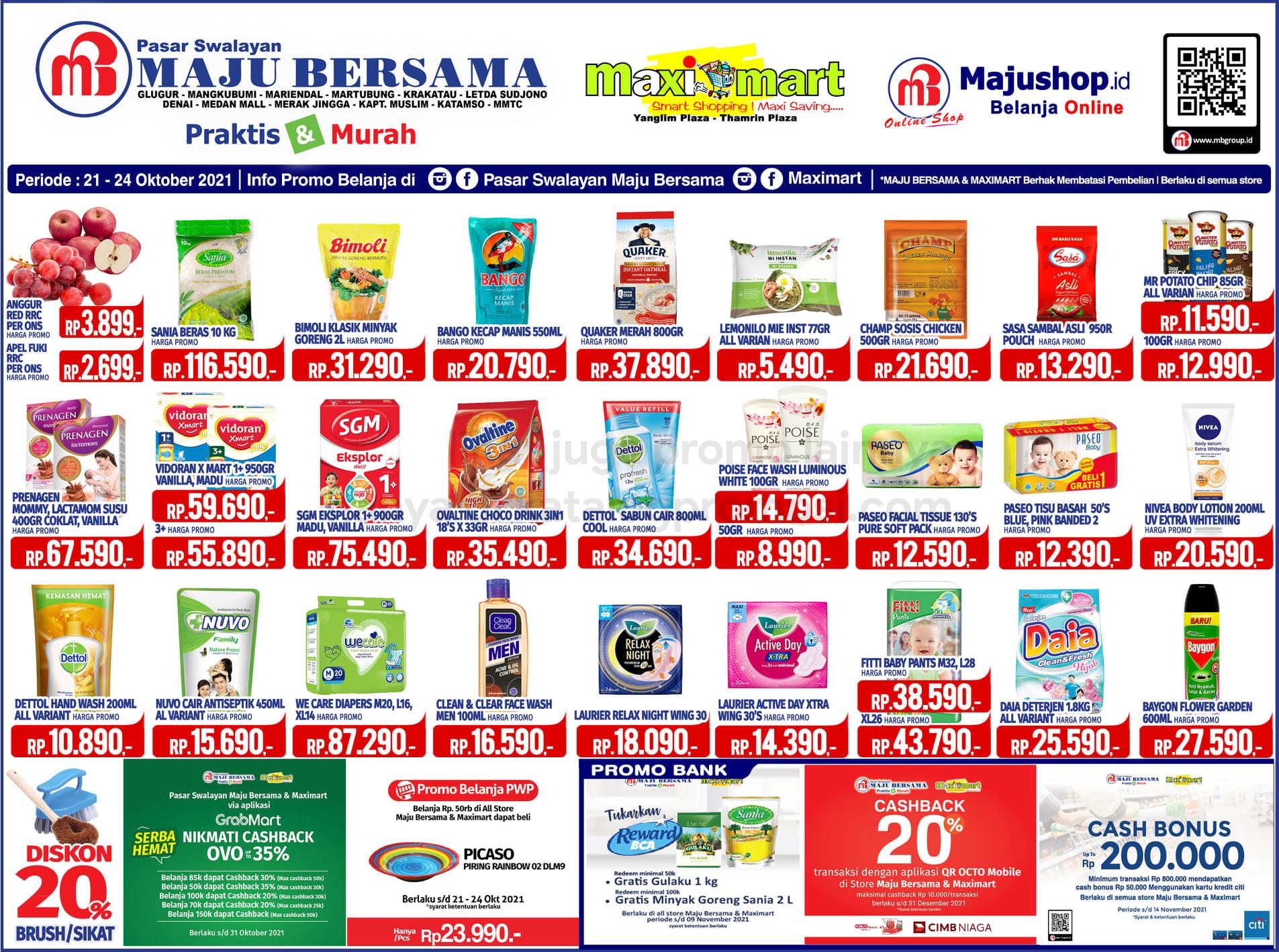 Katalog Maximart Promo Weekend Periode 21-24 Oktober 2021