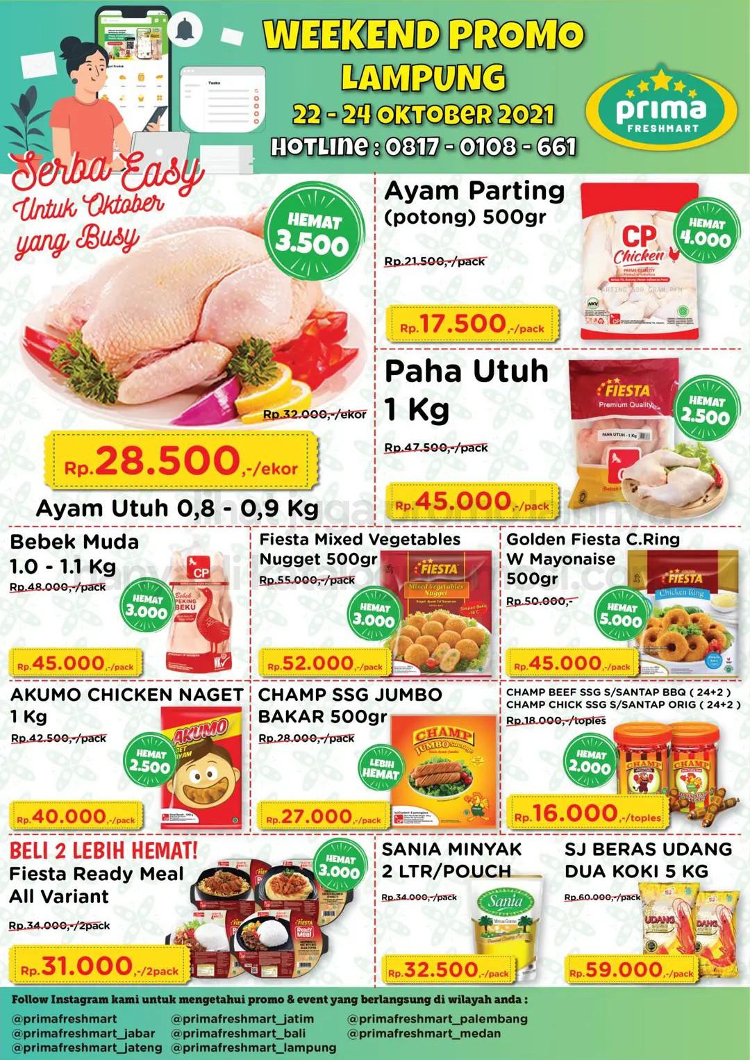 Promo Prima Freshmart Terbaru - Katalog Belanja Weekend JSM periode 22-24 Oktober 2021