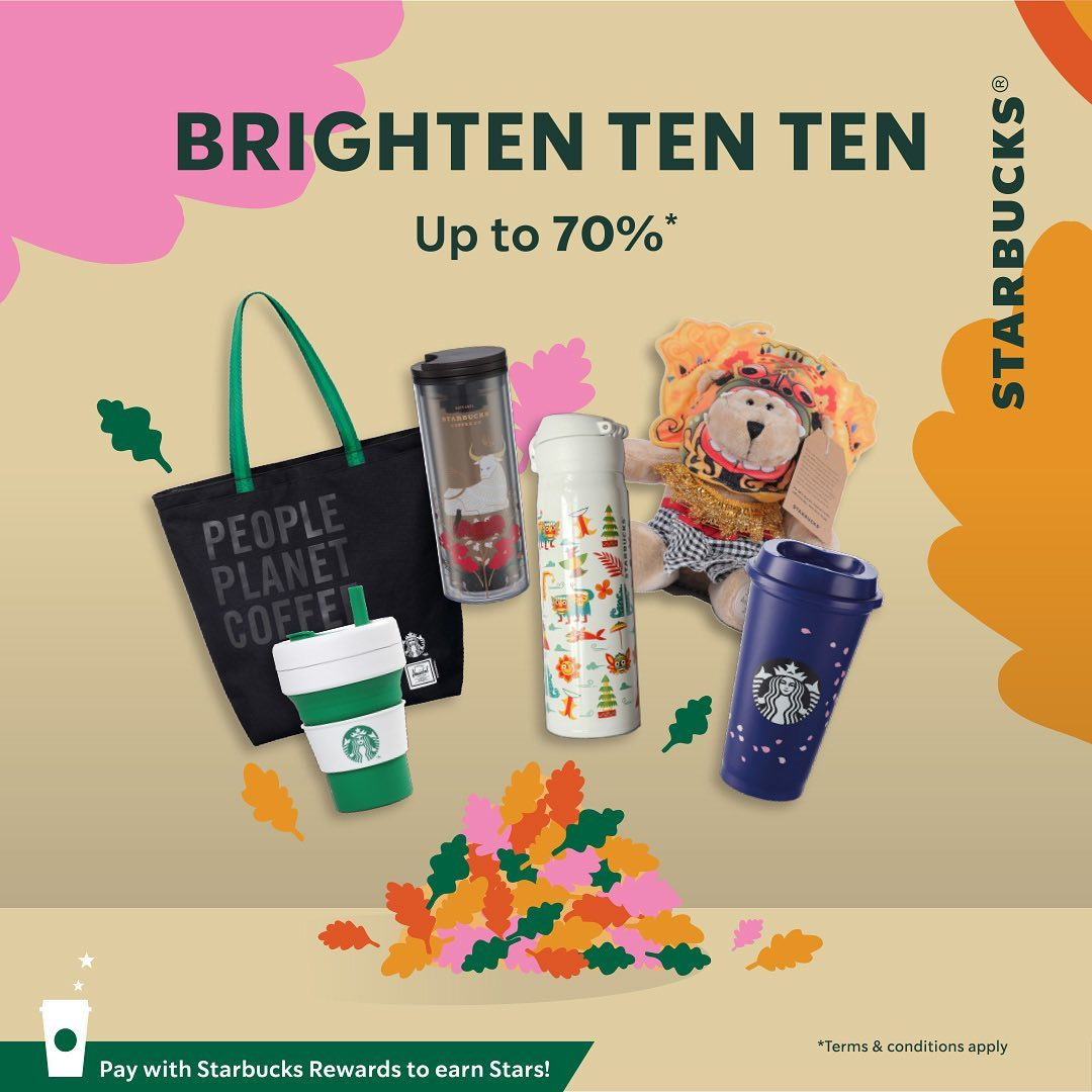 Starbucks Ready Set Sale! Merchandise Starbucks Promo Up to 70% Off Exclusive at Shopee
