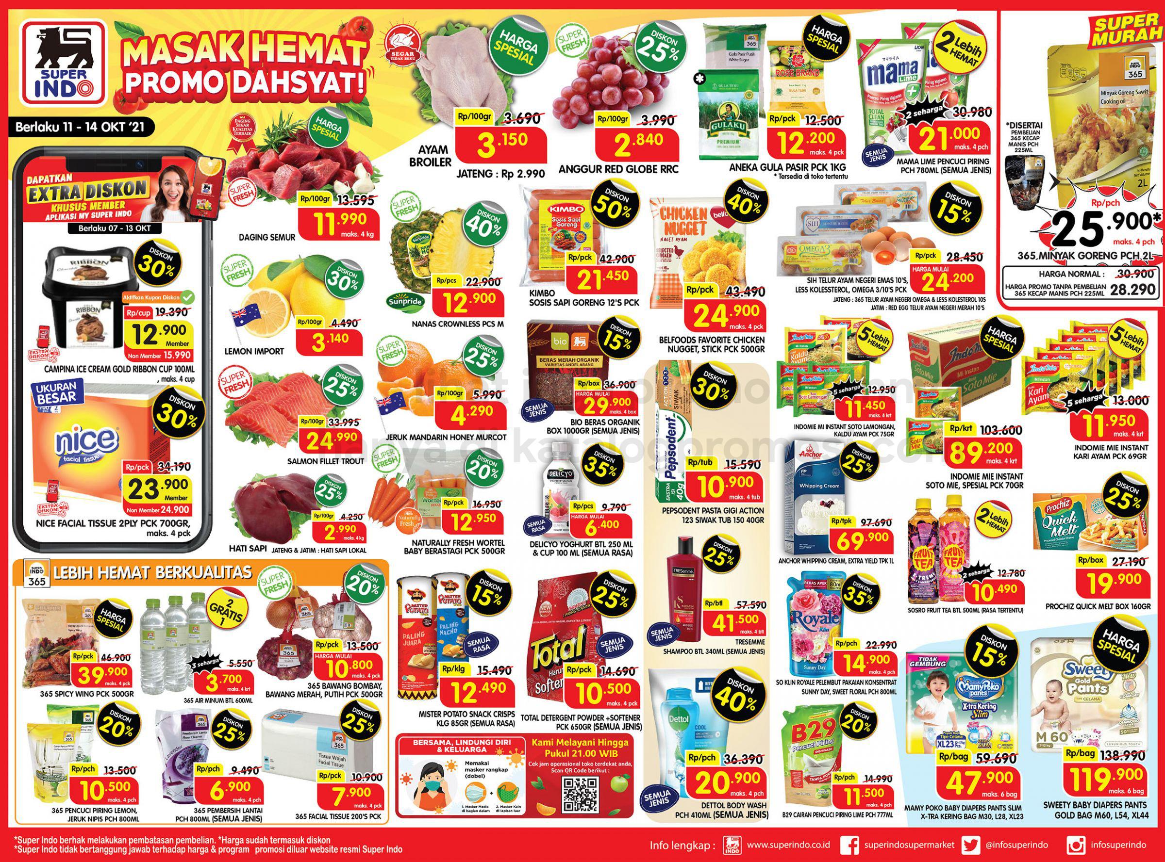 Promo Superindo Katalog Awal Pekan (Weekday) periode 11-14 Oktober 2021