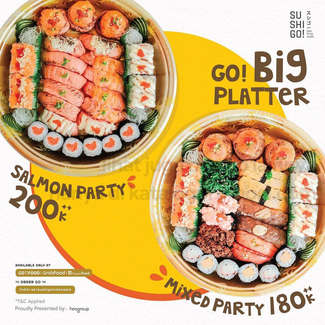 Promo SUSHI GO! BIG PLATTER - Harga Spesial mulai Rp. 180.000++