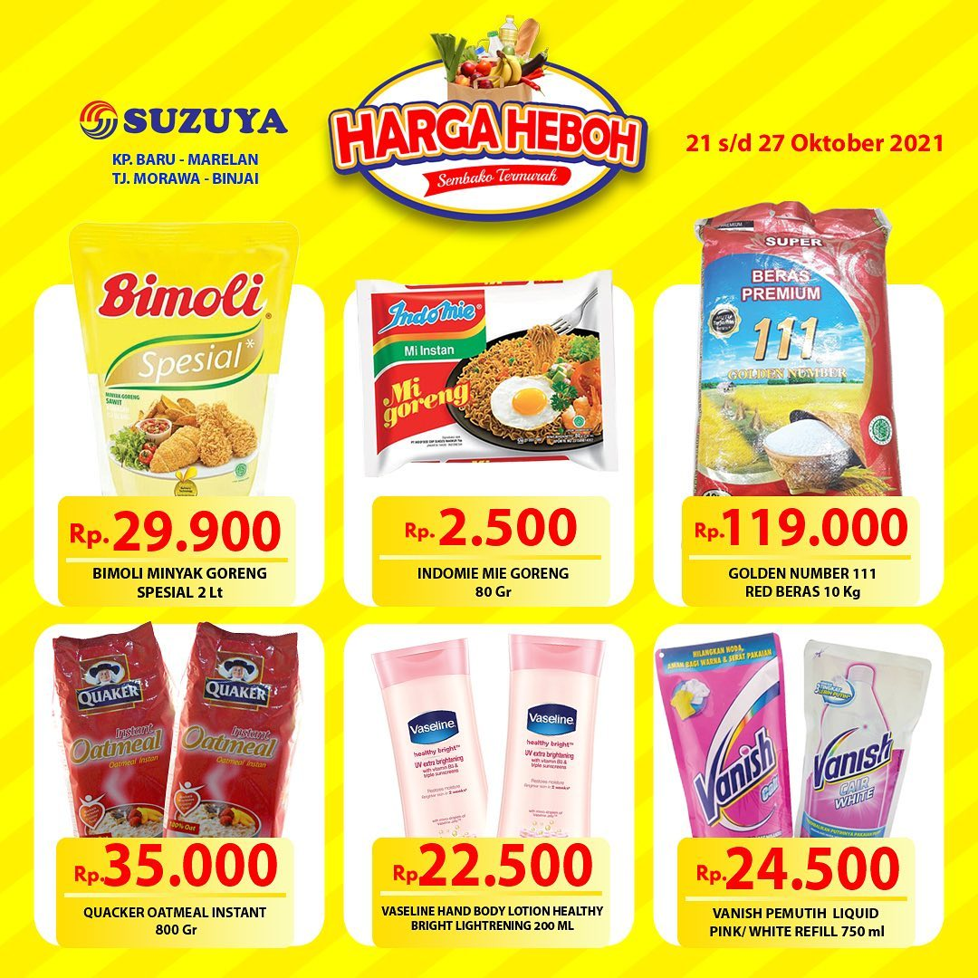 Promo SUZUYA SUPERSTORE Katalog Weekend Harga Heboh periode 21-27 Oktober 2021