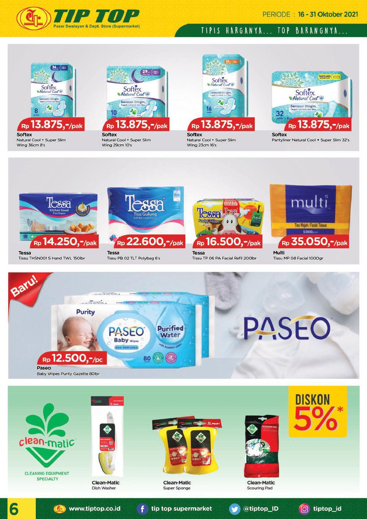 Katalog TIP TOP PASAR SWALAYAN Promo Mingguan Periode 16-31 Oktober 2021